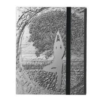Chrome Tree of Life Yoga iPad Cover