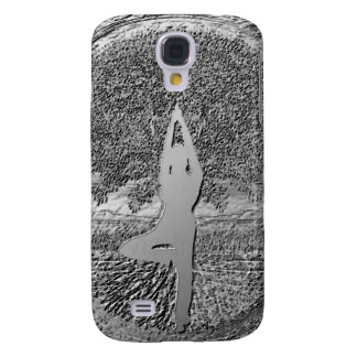 Chrome Tree of Life Yoga Samsung Galaxy S4 Cover