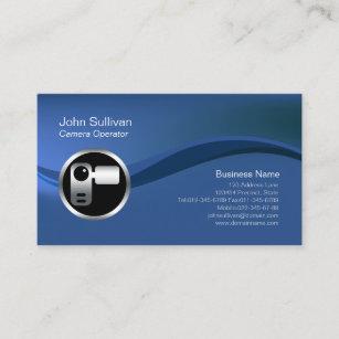 Videographer business cards templates zazzle chrome video camera icon videographer businesscard business card colourmoves