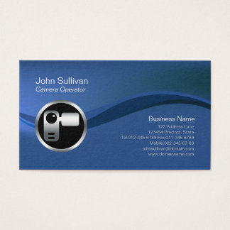 Chrome Video Camera Icon Videographer BusinessCard Business Card