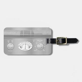 Chrome Vintage Radio Luggage Tags