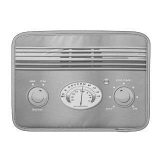 Chrome Vintage Radio MacBook Sleeve