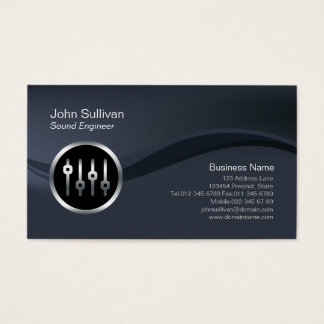 Chrome Volume Sliders Sound Engineer Business Card