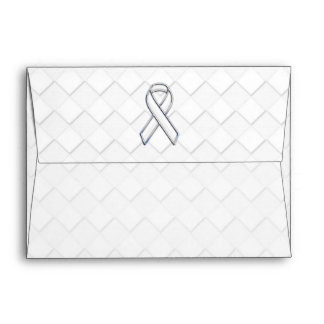 Chrome White Ribbon Awareness on Checkers Envelope