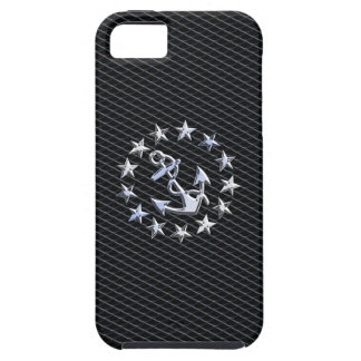 Chrome Yacht Naval Flag on Automotive Grille Decor iPhone SE/5/5s Case