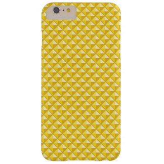 Chrome yellow, enamel look, studded grid barely there iPhone 6 plus case