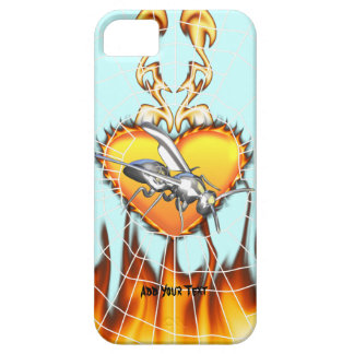 Chrome yellow jacket design 1 with fire and web. iPhone 5 cases