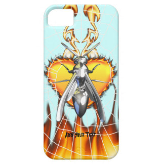 Chrome yellow jacket design 4 with fire and web. iPhone 5 cases