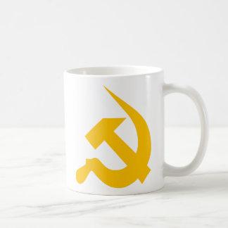 Chrome Yellow Thick Neo-Hammer & Sickle Mug