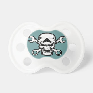 Chromeboy Cross-Wrenches Baby Pacifier