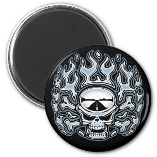 Chromeboy Crossbones 2 Inch Round Magnet