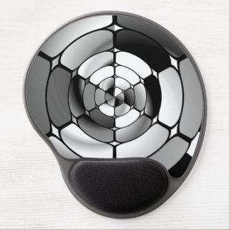 Chromed black and white gel mouse pad