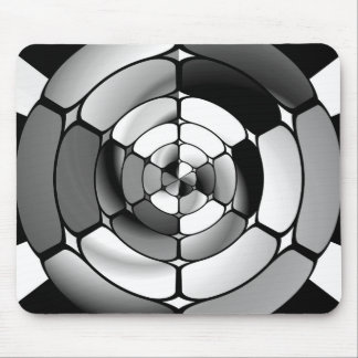 Chromed black and white mouse pad