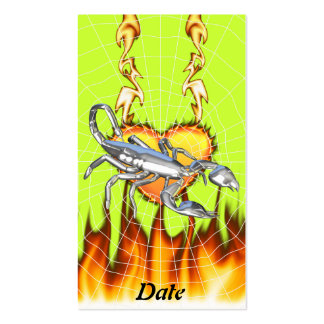 Chromed scorpion design 1 with fire and we business card