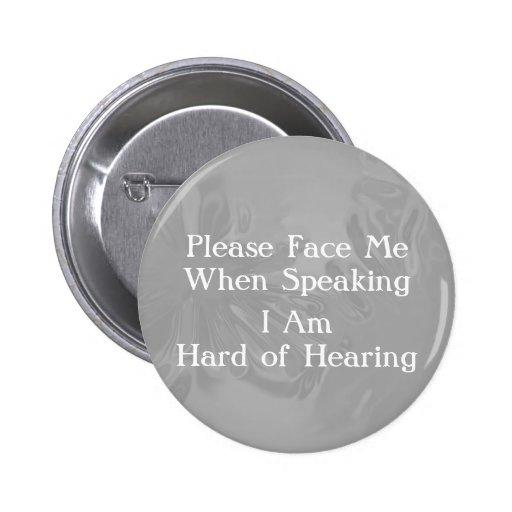 Chromel Hard of Hearing Button