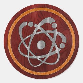 Chromium Atom Classic Round Sticker