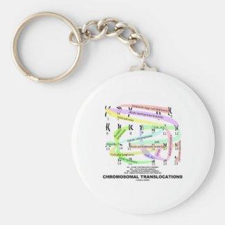 Chromosomal Translocations (Karyogram) Keychain