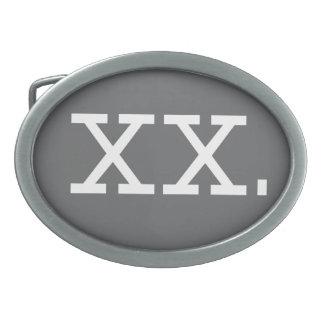 Chromosome - XX, Buckle Oval Oval Belt Buckle