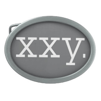 Chromosome - XXY, Buckle Oval Oval Belt Buckle