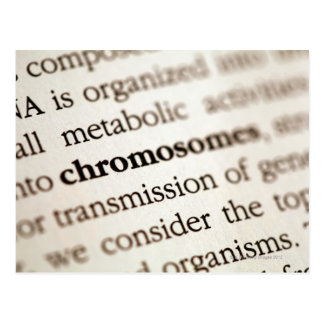 Chromosomes definition on page postcard