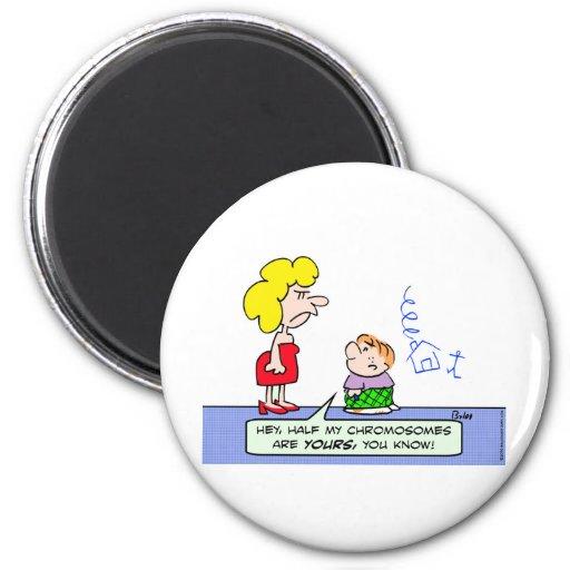 chromosomes draw wll kid 2 inch round magnet