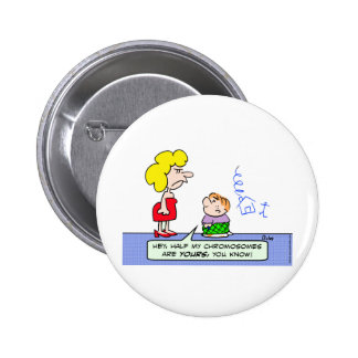 chromosomes draw wll kid pinback button