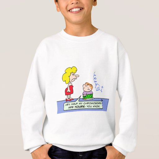chromosomes draw wll kid sweatshirt