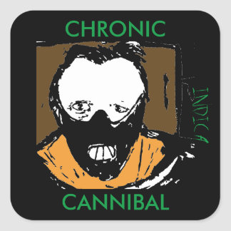 CHRONIC CANNIBAL INDICA SQUARE STICKER