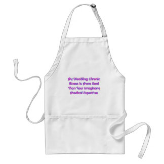 Chronic Conditions - Purples Adult Apron