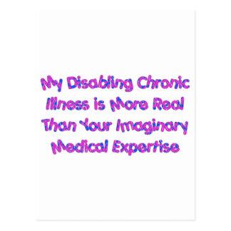 Chronic Conditions - Purples Postcard
