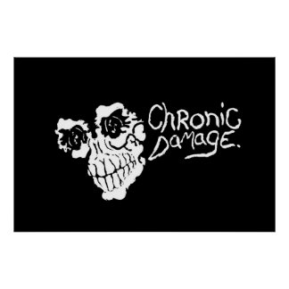 "Chronic Damage ""Art of Suffering""Flip Side Poster"