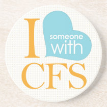 Chronic Fatigue Awareness Drink Coaster