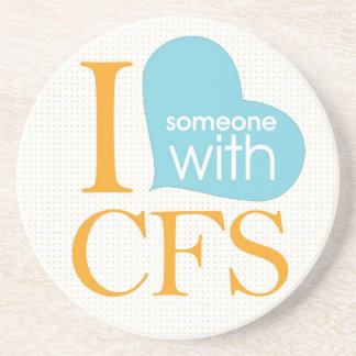 Chronic Fatigue Awareness Drink Coaster