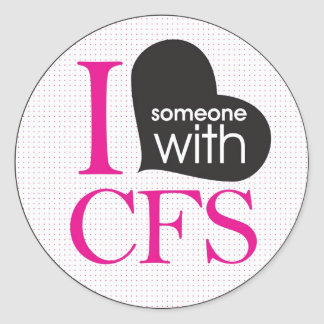 Chronic Fatigue Awareness (pink and black) Round Sticker