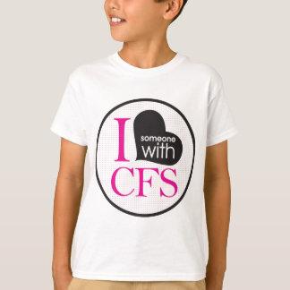 Chronic Fatigue Awareness (pink and black) T-Shirt