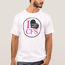 Chronic Fatigue Awareness (pink and black) T-Shirt