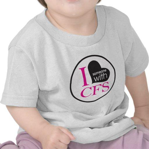 Chronic Fatigue Awareness (pink and black) T Shirts