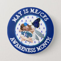 Chronic Fatigue Syndrome Awareness Button