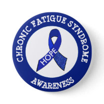 Chronic Fatigue Syndrome Awareness Ribbon Button