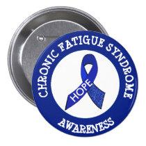 Chronic Fatigue Syndrome Awareness Ribbon Button