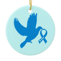 Chronic Fatigue Syndrome, CFS, Dove of Hope Ceramic Ornament