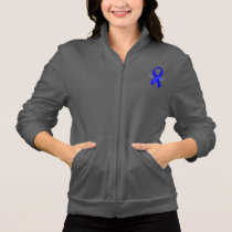 Chronic Fatigue Syndrome, CFS, Ribbon with Wings Jacket