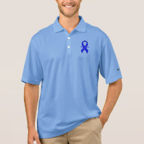 Chronic Fatigue Syndrome, CFS, Ribbon with Wings Polo Shirt