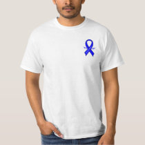 Chronic Fatigue Syndrome, CFS, Ribbon with Wings T-Shirt
