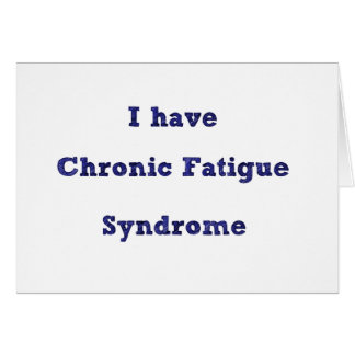 Chronic Fatigue Syndrome explanation card
