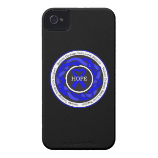 Chronic Fatigue Syndrome Hope Intertwined Ribbon iPhone 4 Cases