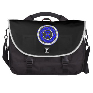 Chronic Fatigue Syndrome Hope Intertwined Ribbon Laptop Bag