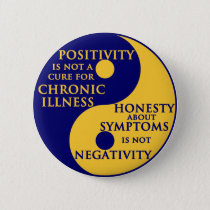 Chronic Illness Round Badge Button