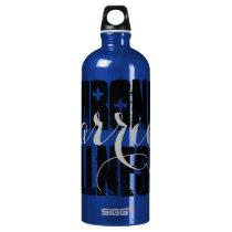 Chronic Illness Warrior - two script Aluminum Water Bottle