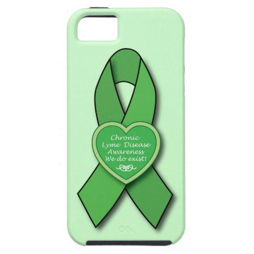 Chronic Lyme Disease Awareness Ribbon iPhone 5 Cases